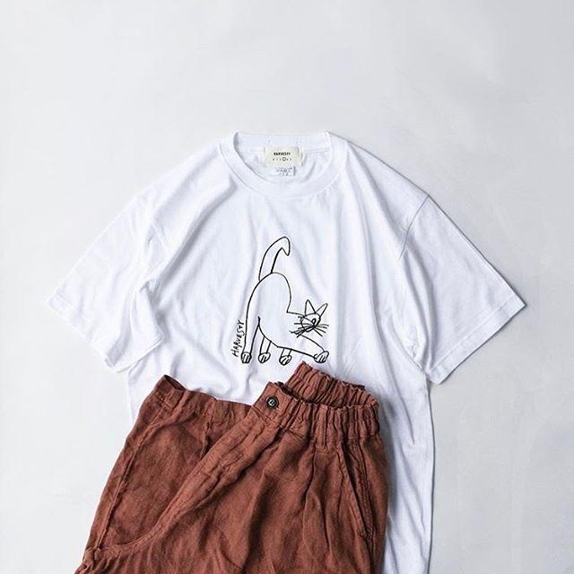 .【HARVESTY】.公式画像より。こちらのプリントTeeです!かわいいです︎︎お待ちしております︎..営業時間 10:00〜19:00.#愛媛#松山#BlessofBless#セレクトショップ#HARVESTY#ハーベスティ#ワイドエッグパンツ#エッグパンツ#Tシャツ#コラボ#19ss#今日のコーディネート#お洒落さんと繋がりたい - from Instagram