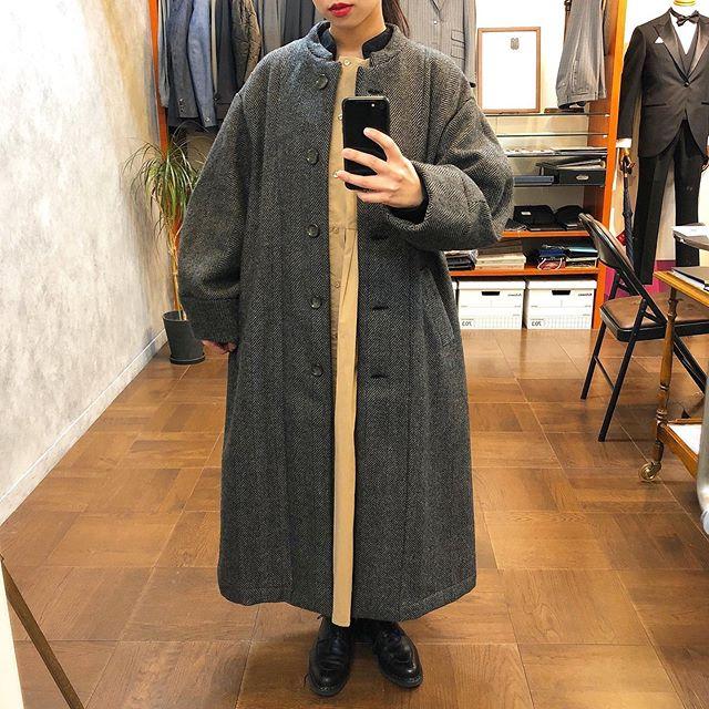 ..coat...#yarraonepiece...#kelenshoes...#paraboot152㎝.お袖にボリュームのあるyarraのコート︎ヘリンボーン柄が雰囲気たっぷりです︎♡..営業時間 10:00〜19:00.#愛媛#松山#大街道#ehime#matsuyama#BlessofBless#セレクトショップ#今日のコーディネート#お洒落さんと繋がりたい#19fw#19aw - from Instagram