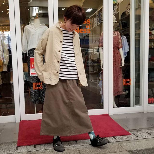 【Bless ONLINE STORE】ショップスタッフ提案のトータルコーディネートをセットで通販限定スペシャルプライス!お出かけできない日々が続いています。おウチで過ごす時間もリラックスできるお洋服をご紹介していきたいと思います。今日はBless of Bless店長セレクトのコーディネートです☆outer: #danafaneuiltops: #douxblueskirt: #gramiccisocks: Blessオリジナル#2020 #今日のコーディネート #おしゃれさんと繋がりたい #セレクトショップ #愛媛 #松山 #松山市大街道 #BlessofBless - from Instagram