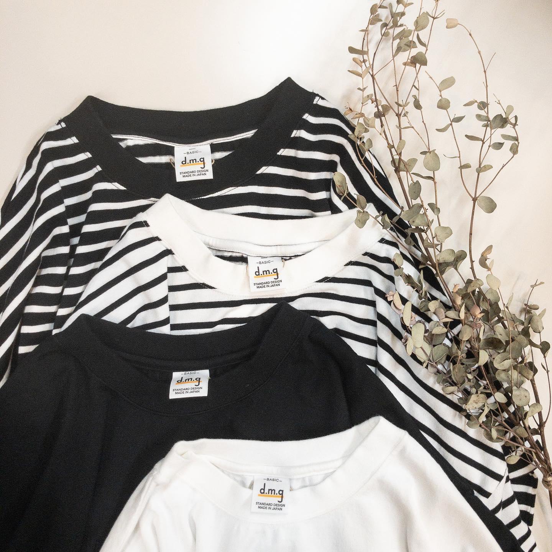 ・・ #dmg @domingo_official ゆったりシルエットの綿100%Tシャツが届きましたスタンダードな色と柄で長く使えるドロップショルダーTシャツです。袖口も幅があるので中にシャツを入れても着れます。丈60、バスト60・・#愛媛#松山#大街道#ehime#matsuyama#BlessofBless#セレクトショップ#今日のコーデ#お洒落さんと繋がりたい#2021ss#21ss#fudge#fudge部#cluel#wear#fashion #Tシャツ#ドロップショルダー #シンプルコーデ #カジュアルコーデ #ドミンゴ #白t #黒t  #ボーダーt - from Instagram