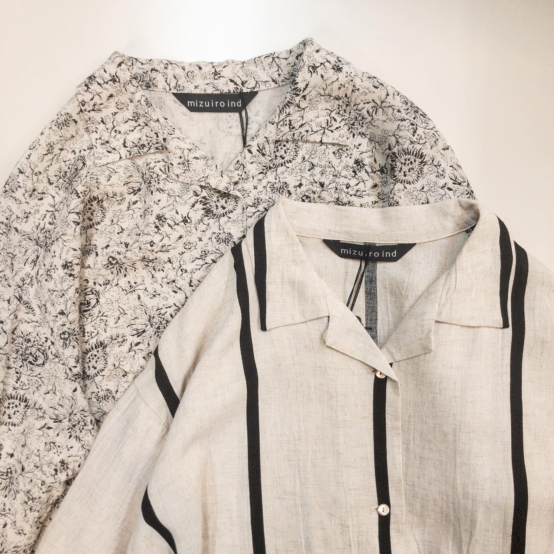 ・・ #mizuiroind  @mizuiroind_official 1つ前の投稿とセットアップで着て頂けるシャツですテーラーカラーなのでメンズっぽく、ルーズな雰囲気も出てかっこいいですレーヨン70%、リネン30%で肌触りが良く涼しいです。2つの柄どちらも店頭にパンツもございます。単体でも、セットアップでも楽しめるお洋服です。丈(前)62(後)63バスト118・・#愛媛#松山#大街道#ehime#matsuyama#BlessofBless#セレクトショップ#今日のコーデ#お洒落さんと繋がりたい#2021ss#21ss#fudge#fudge部#cluel#wear#fashion #ミズイロインド #ミディウミソリッド #開襟シャツ #テーラーカラー #メンズライク #リネンシャツ  #プリントシャツ #シャツコーデ - from Instagram
